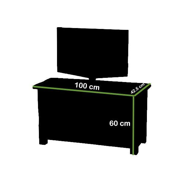 Cotswold Oak TV Cabinet - Dimensions