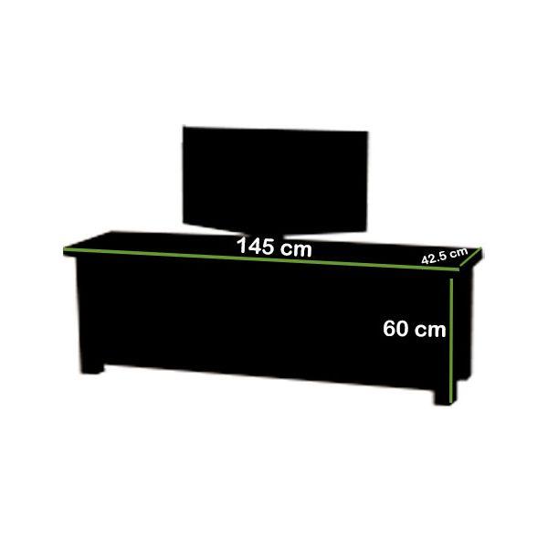 Cotswold Oak Widescreen TV Cabinet Dimensions