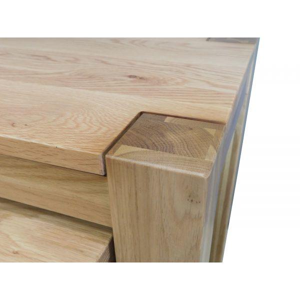Kuba Solid Oak Nest of Tables [3 Tables]