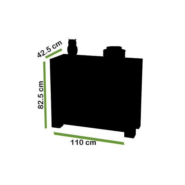 Kuba Solid Oak Small Sideboard - Dimensions