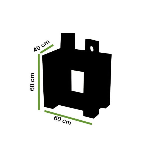 kuba Solid Oak lamp table dimensions