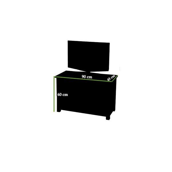 Oslo Solid Oak Small TV Cabinet - Dimension Picture