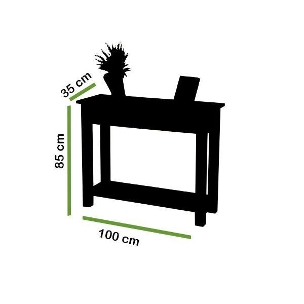 Oslo Solid Oak Console Table - Dimensions