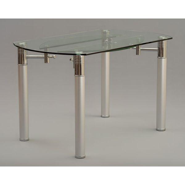 Torino Designer 74cm 120cm Extending Glass Dining Table