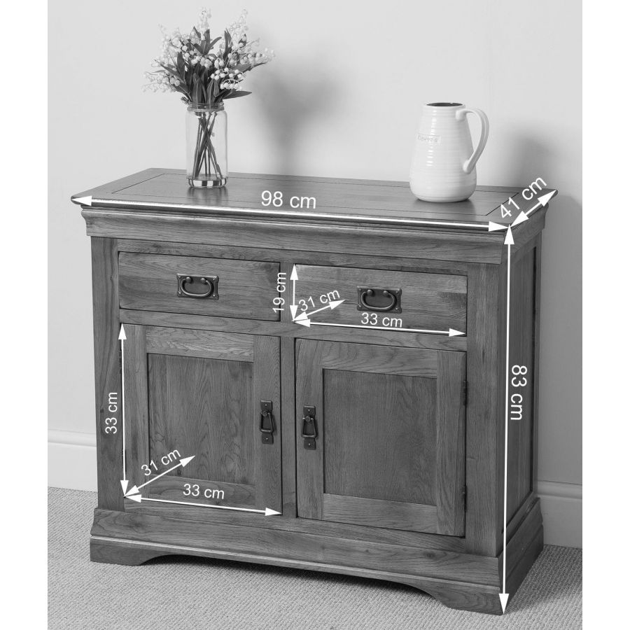 French Chateau Small Dining Set 4 Yale Chairs: French Chateau Small Oak Sideboard