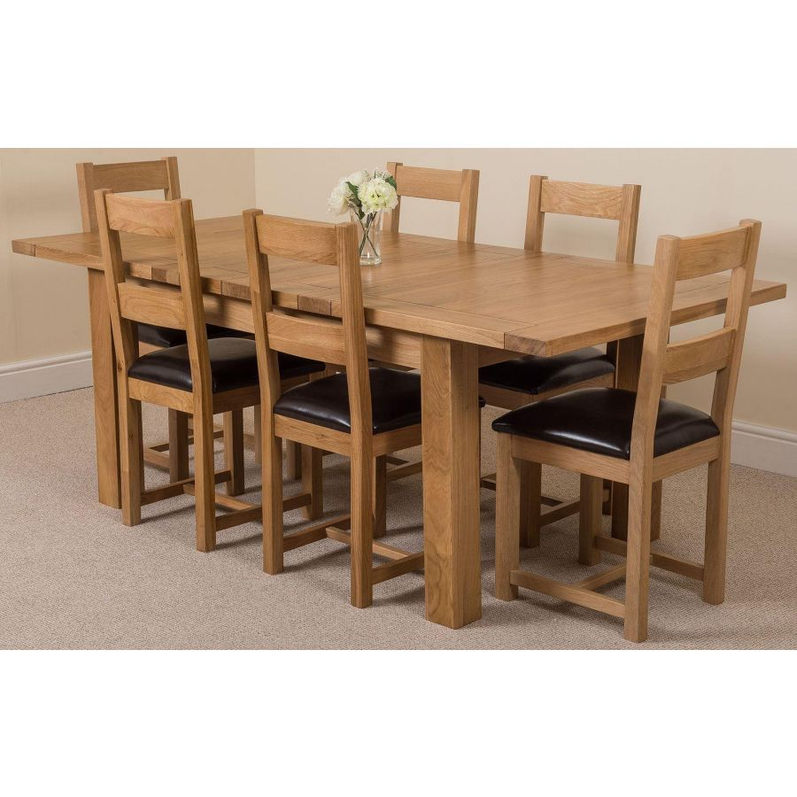 oak extending dining table and 9 chairs> OFF 9