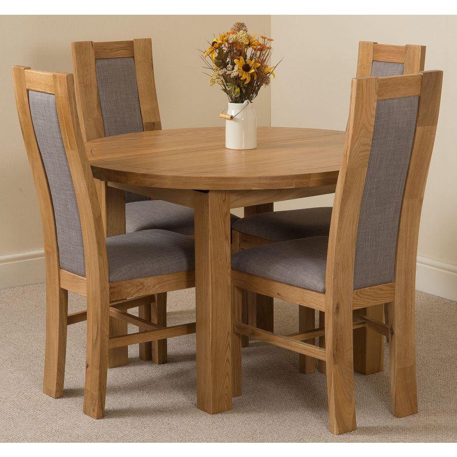 Edmonton Dining Set 4 Stanford Chairs Oak Furniture King