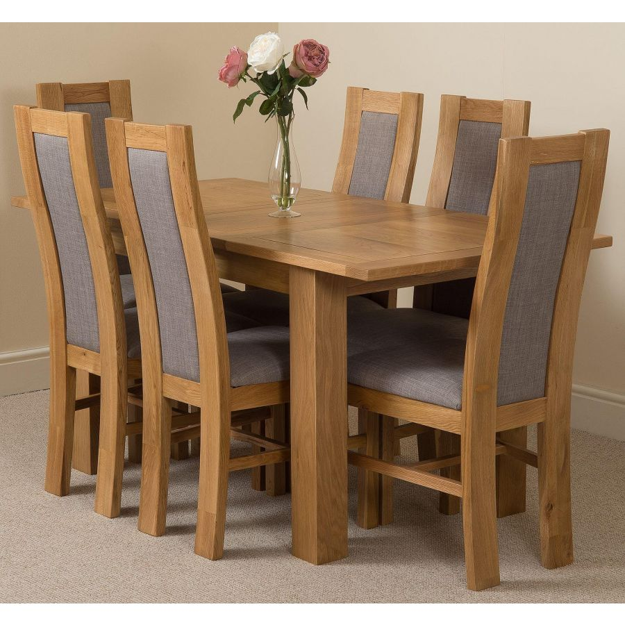 Magnificent Hampton Small Oak Extending Dining Table With 6 Stanford Oak Chairs Caraccident5 Cool Chair Designs And Ideas Caraccident5Info