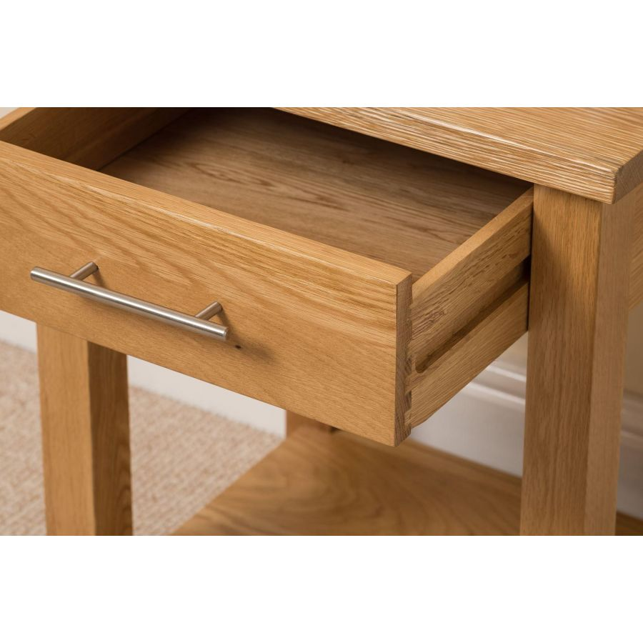 Oslo Solid Oak Lamp Table Free Uk Delivery