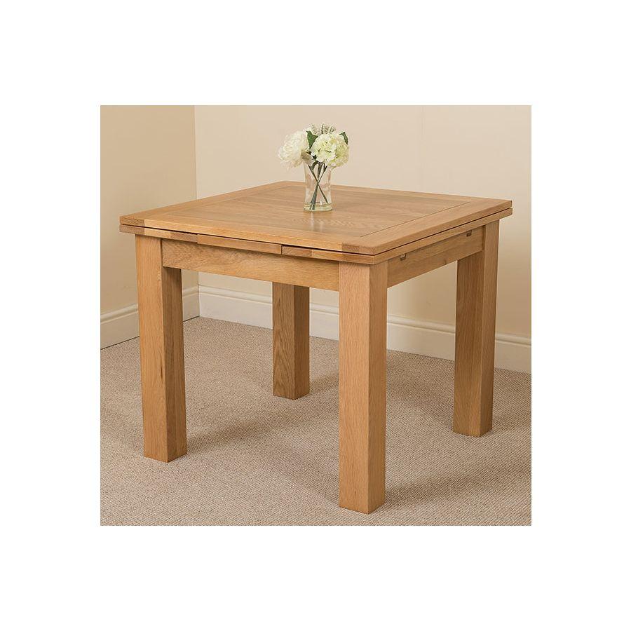 Richmond Oak Dining Set 200 280cm 6 Ivory Chairs